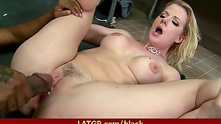 Hot MILF loves to ride a black monster 17