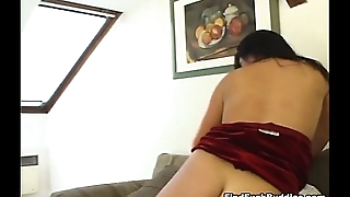 fine brunette gets double penetrated hard by two big cocks