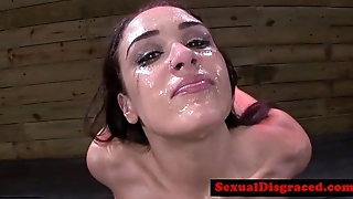 Bondage fetish bdsm babe deepthroating