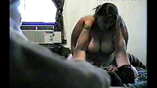 Horny Fat BBW Whilom before GF with Big Tits riding cock on Hidden Cam