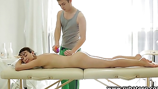RubATeen Exotic European beauty fucked in the massage parlor