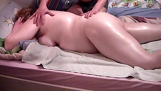 My wife massage and pain in the neck fuck
